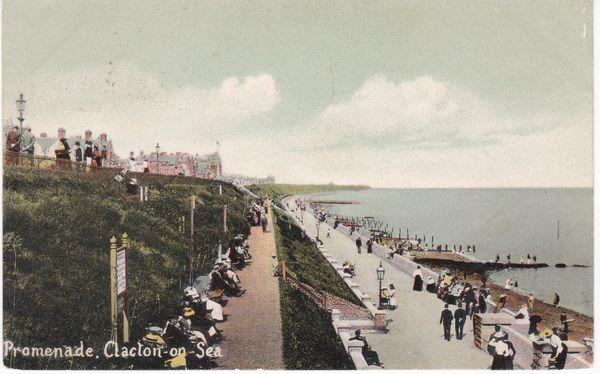 Post Card Essex CLACTON-ON-SEA Promenade 1905
