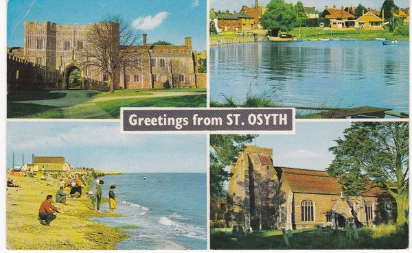 Post Card Essex ST. OSYTH Greetings from 4 views Constance