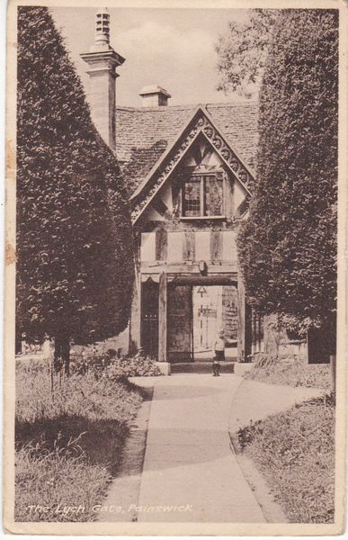 Post Card Gloucestershire PAINSWICK The Lych Gate