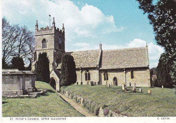 Post Card Gloucestershire UPPER SLAUGHTER ST. PETER'S CHURCH Judges C 5272X