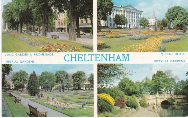 Post Card Gloucestershire CHELTENHAM 4 views Dennis Productions Photocolour C.5820