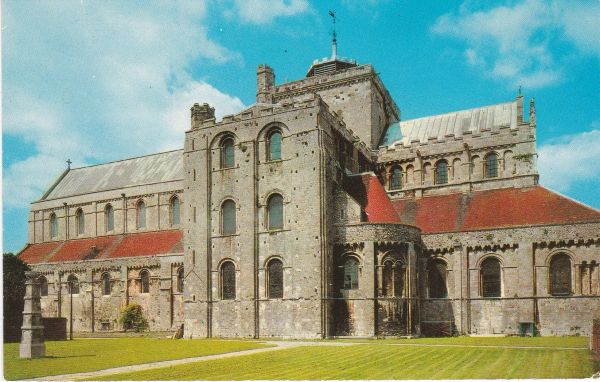 Post Card Hampshire ROMSEY ABBEY South Side Photo Precision Ltd. PT3041