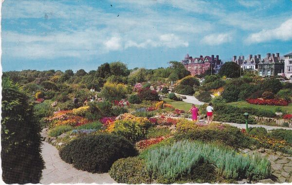 Post Card Hampshire SOUTHSEA Sunken Rock Gardens Looking West Norman - Shoesmith & Etheridge Ltd. N1280
