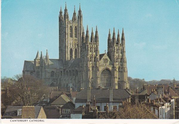 Postcard Kent CANTERBURY Canterbury Cathedral The North West View produced by Judges for Cathedral Gifts Limited