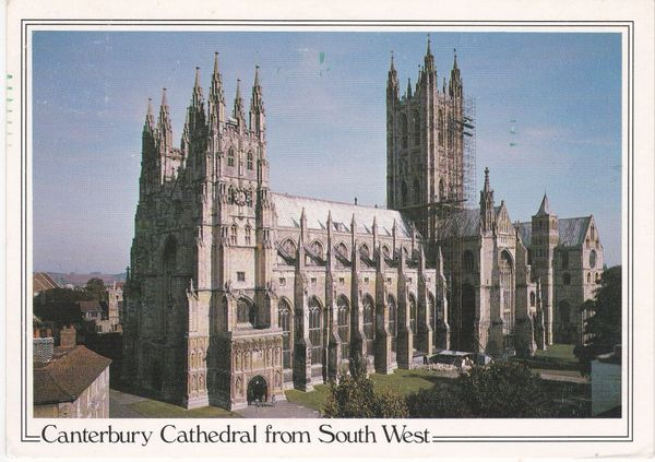 Postcard Kent CANTERBURY Canterbury Cathedral from the South West View Judges C 1724