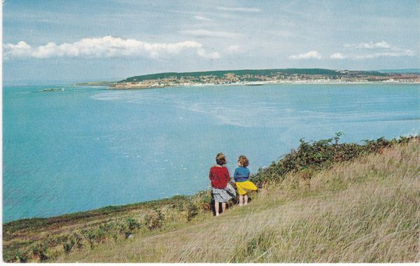 Postcard Somerset WESTON-SUPER-MARE BREAN looking towards Weston-Super-Mare Photographic Greeting Card Co.