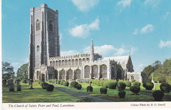 Post Card Suffolk LAVENHAM The Church of Saints Peter and Paul Constance V9001