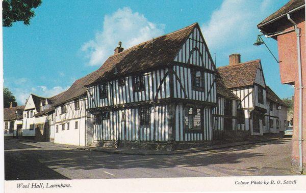 Post Card Suffolk LAVENHAM Wool Hall Constance V9007