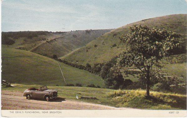 Post Card Surrey The Devil's Punchbowl near BRIGHTON Jarrold