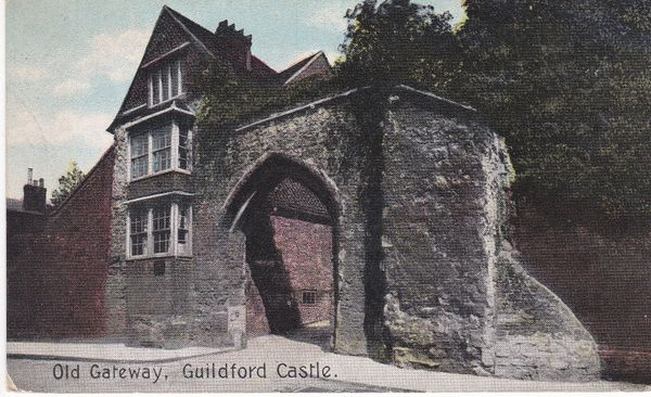 Post Card Surrey GUILDFORD CASTLE Old Gateway Shurey's Publications