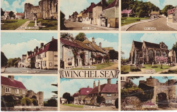Post Card Sussex WINCHELSEA 9 views Norman - Shoesmith & Etheridge C11205