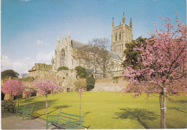 Post Card Worcestershire WORCESTER CATHEDRAL J. Arthur Dixon PWO/86762