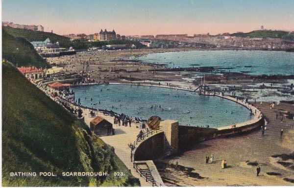 Post Card Yorkshire SCARBOROUGH Bathing Pool 523