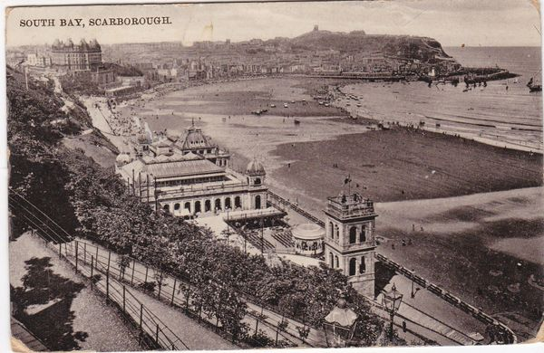 Post Card Yorkshire SCARBOROUGH South Bay posted 1912