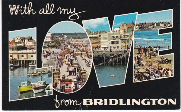 Post Card Yorkshire BRIDLINGTON With all my LOVE from Bamforth N 16 Color Gloss Novelty Series