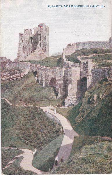 Post Card Yorkshire SCARBOROUGH CASTLE Exclusive Celesque SERIES