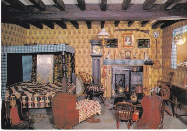 Post Card Yorkshire YORK The Castle Museum The Interior of a Moorland Cottage Photo Precision R70090