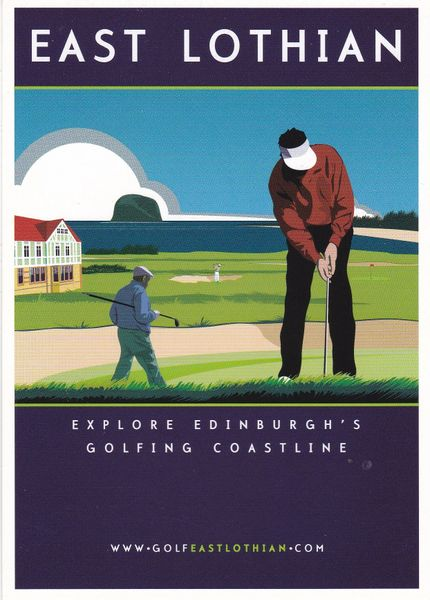 Post Card Scotland EAST LOTHIAN Explore Edinburgh's Golfing Coastline Golfeastlothian