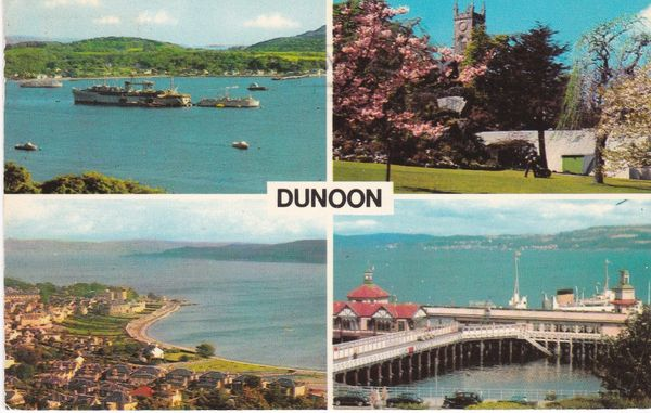 Post Card Scotland Argyll DUNOON PLC36987