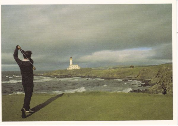 Post Card Scotland Ayrshire TURNBERRY The famous 9th Tee, Ailsa Course Golf David J Whyte Publishing Ltd. DJ77