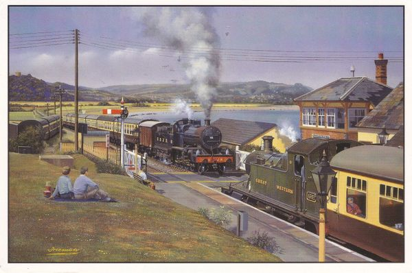 Postcard Somerset WEST SOMERSET STEAM The B. J. Freeman Collectors Cards Railway Series No. 23