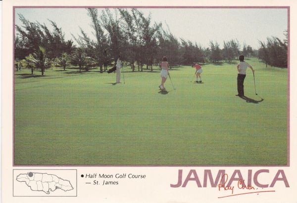 Post Card Jamaica St. James Half Moon Golf Course Periwinkle PC 029