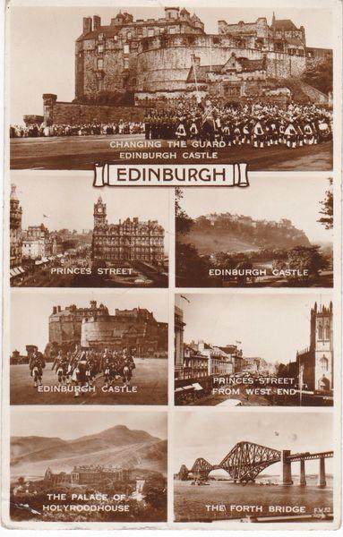 Post Card Scotland EDINBURGH 7 views