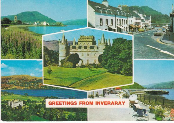Post Card Scotland Argyll and Bute INVERARAY five views Hail Caledonia Whiteholme