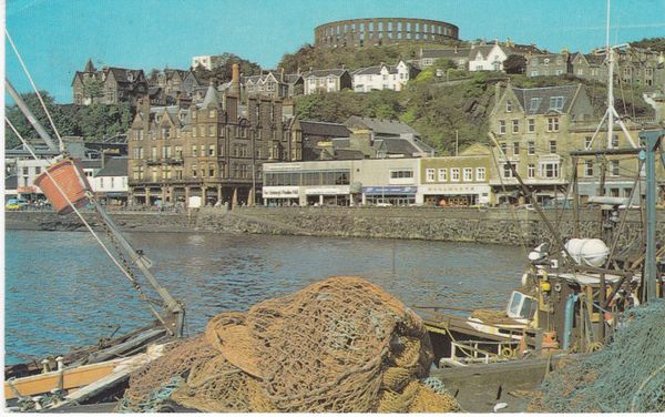 Post Card Scotland Argyll and Bute OBAN from Railway Pier Photo Precision Colourmaster PLX37129