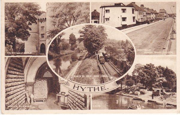 Postcard Kent HYTHE 5 views Norman - 1958