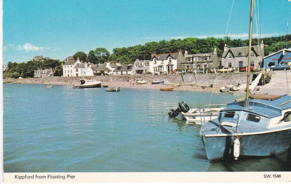 Post Card Scotland Dumfries and Galloway KIPPFORD from Floating Pier Dennis Productions SW 1546