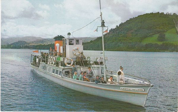 Post Card Cumbria / Transport Inland Water ULLSWATER LADY OF THE LAKE Sanderson & Dixon