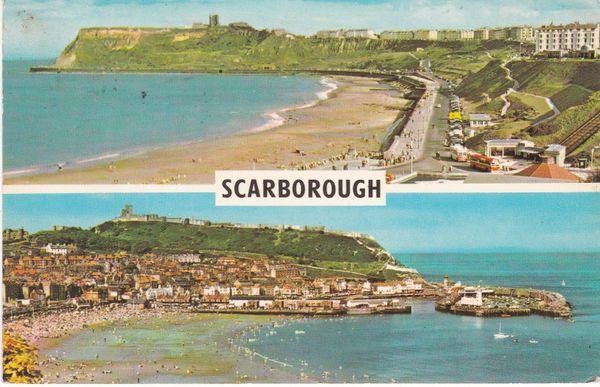 Post Card Yorkshire SCARBOROUGH 2 views PLC19980