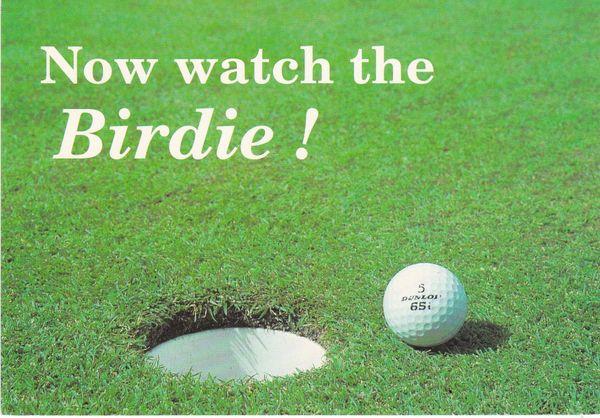 Post Card Golf / Comic Now watch the Birdie! Dennis Print & Publishing S054091L