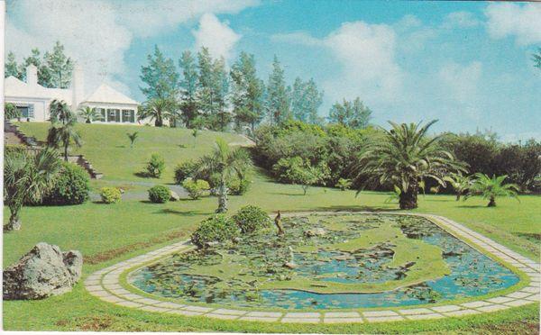 Post Card BERMUDA MAP GARDEN Eve-McPhee Ltd., Bermuda BDA152
