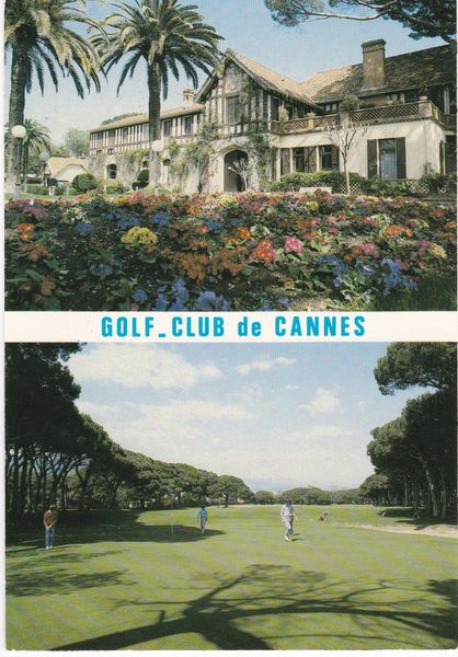 Postcard France Cannes GOLF CLUB DE CANNES 2 views