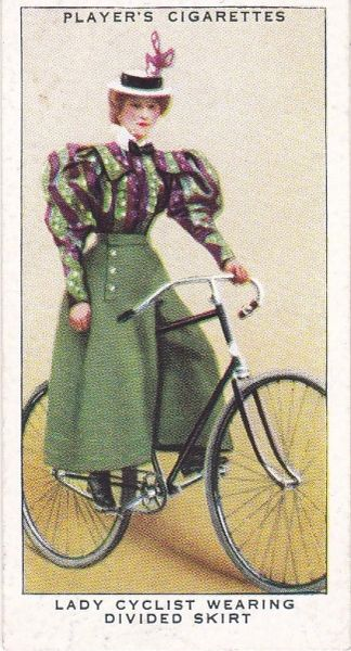 No. 27 Lady Cyclist Wearing Divided Skirt