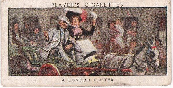 No. 50 A London Coster : Pearlies and Fevvers