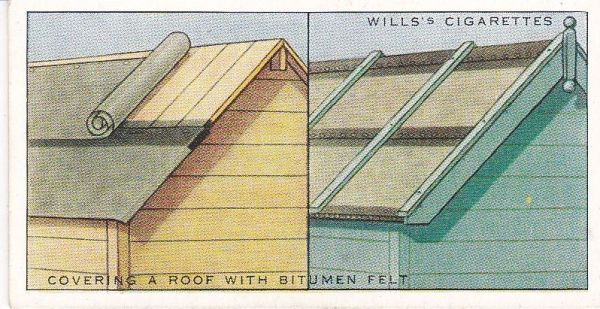 Household Hints (1936) No. 39 Covering a Roof with Bitumen Felt