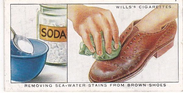 Household Hints (1936) No. 42 Removing Sea-Water Stains from Brown Shoes