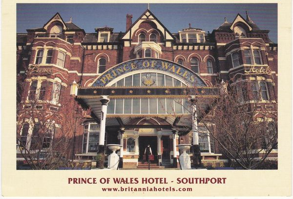 Post Card Lancashire SOUTHPORT The Prince of Wales Hotel