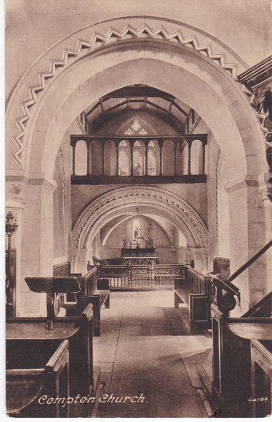 Post Card Sussex COMPTON Church Alfred Challen, Compton 64189
