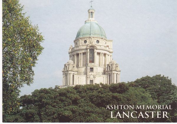 Post Card Lancashire LANCASTER Ashton Memorial Salmon Cameracolour