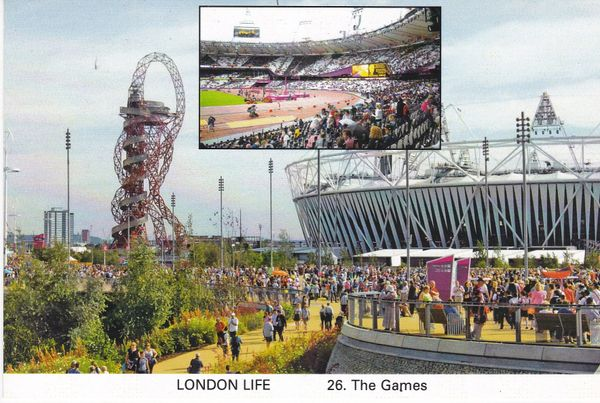 Post Card LONDON LIFE 26. The Games Nottingham Postcard & Cigarette Card Fair 2013 Reflections of a Bygone Age