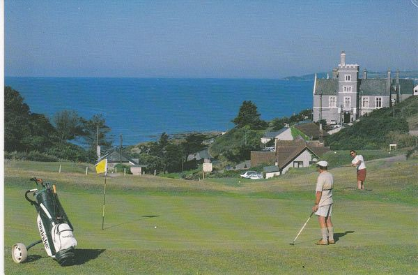 Post Card Cornwall Whitsand Bay Hotel Golf & Country Club Portwrinkle near Torpoint