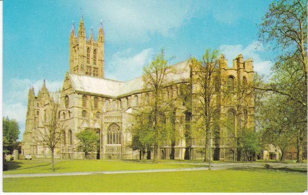 Postcard Kent CANTERBURY Cathedral Dixon Lotus L1/8159/