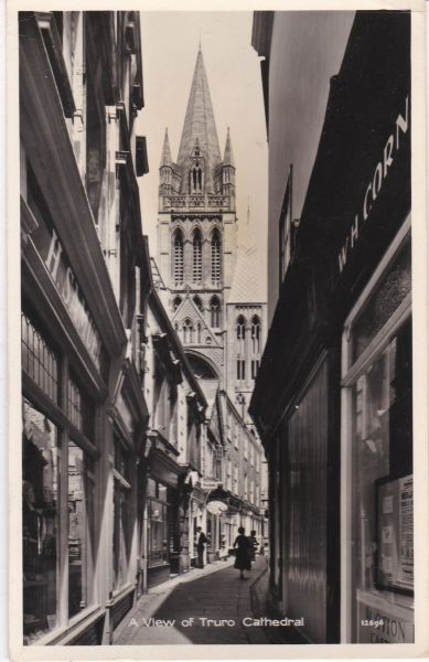 Post Card Cornwall TRURO A View of Truro Cathedral REAL PHOTOGRAPH Photo Precision