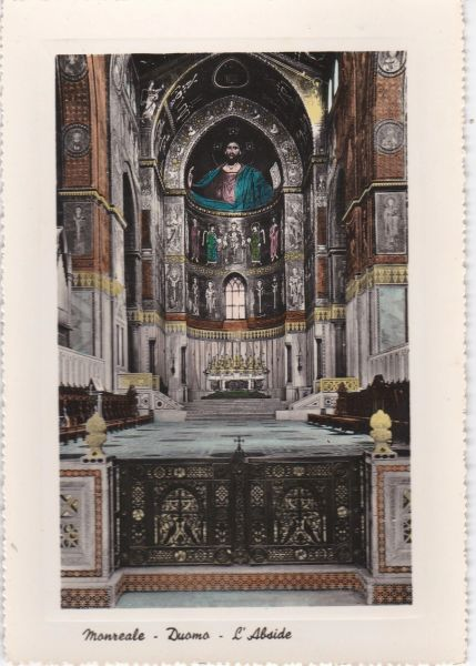 Post Card Italy Sicily MONREALE - Duomo - L'Abside The Duomo - The Apsis