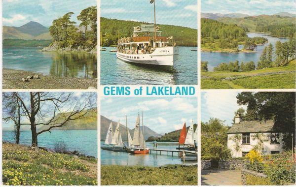 Post Card Cumbria / Westmorland Lake District GEMS OF LAKELAND 6 views Webster