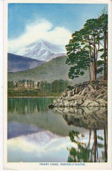 Post Card Cumbria Lake District Derwentwater Friars Crag Abraham Nature Colour Photograph